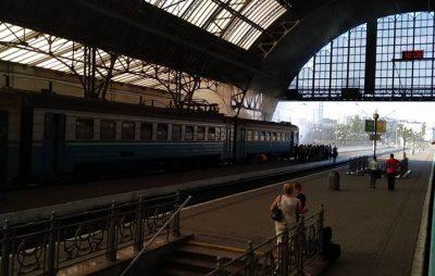 У Львові загорілась електричка