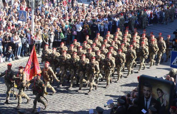 Вулицями Львова пройшов масштабний Марш захисників України. Фото прес-служба ЛОР