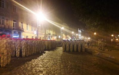 У центрі Львова відбулась репетиція Маршу захисників України