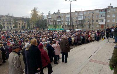 Мітинг у Новому Роздолі. Фото Анатолій Шалаєв
