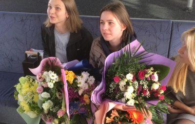 У Львівському аеропорту зустріли срібних призерок 43-ої Всесвітньої шахової Олімпіади – сестер Музичук