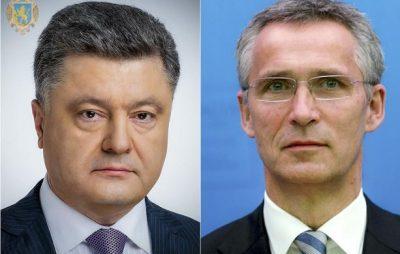 Порошенко і Столтенберг домовилися про термінове скликання надзвичайного засідання Комісії Україна-НАТО