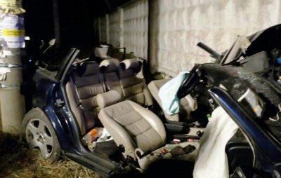 На Львівщині водій вщент знищив автомобіль