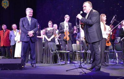 Порошенко завітав на творчий вечір Миколи Кулика