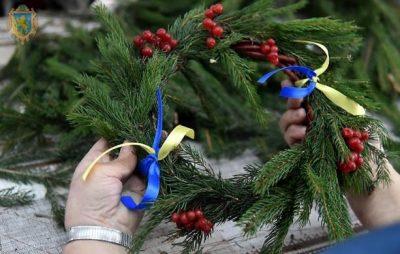У Львові сім'ї Героїв Небесної Сотні сплетуть різдвяні віночки