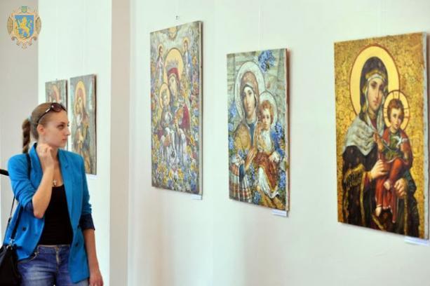 На Львівщині презентують виставку ікон–картин Богородиці. Фото: прес-служба ЛОДА