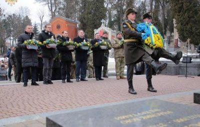 На Личакові до Дня Соборності вшанували пам'ять Героїв. Фото: прес-служба ЛОДА.