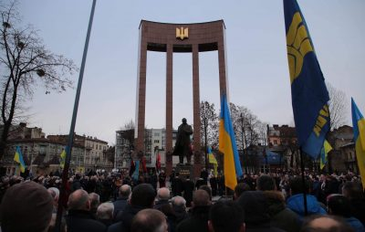 На Львівщині відзначили 110-ту річницю від дня народження Степана Бандери. Фото Ольга Матейчик