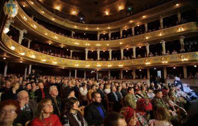 Урочистою академією в театрі опери та балету завершилось відзначення Дня Соборності. Фото: прес-служба ЛОДА. Фото: прес-служба ЛОДА.