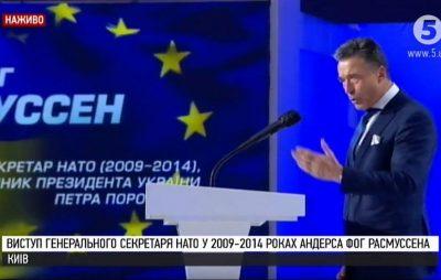 Расмуссен – Порошенку: Якщо Росія припинить бої – не буде більше війни. Якщо Україна припинить боротися – України більше не буде