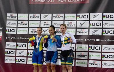 Велосипедистка зі Львівщини завоювала срібну медаль на 5-му етапі Кубку світу. Фото: прес-служба ЛОДА.