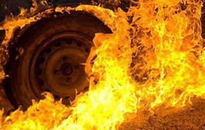 У Яворові згорів «Volkswagen»