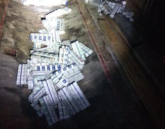На кордоні з Польщею затримали тютюнову контрабанду. Фото: Варта1.