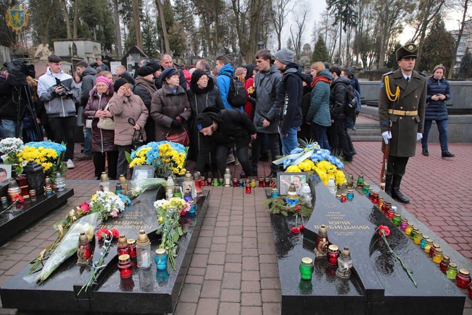 На Личакові вшанували пам'ять Героїв Небесної Сотні . Фото прес-служба ЛОДА
