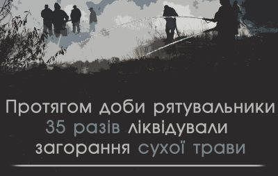 Протягом доби на Львівщині 35 разів ліквідовували пожежі сухої трави