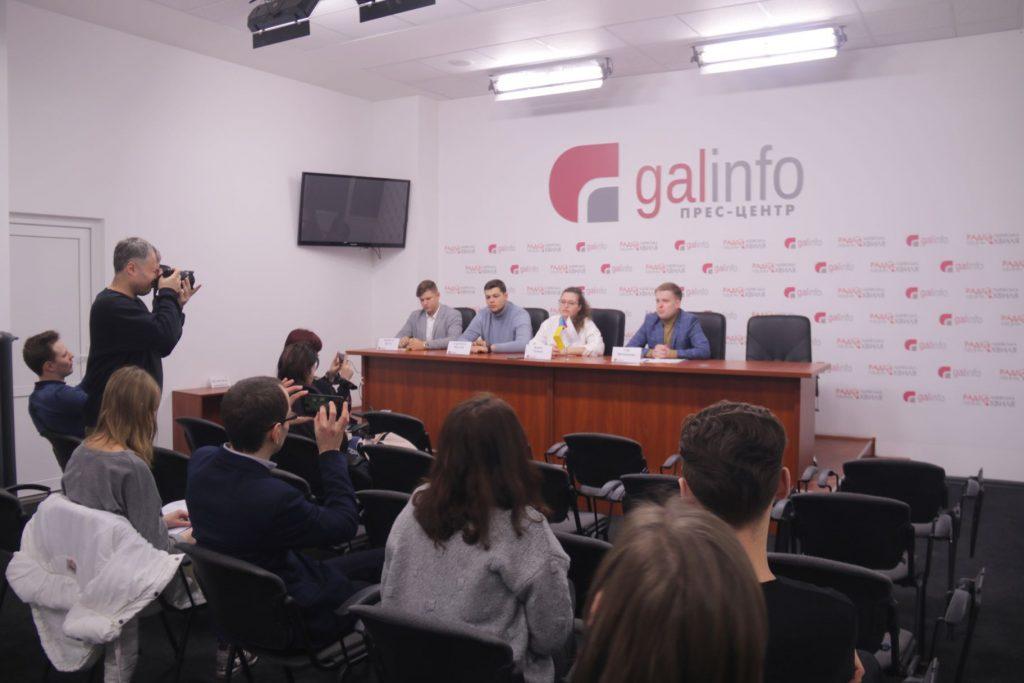 Молодіжні громадські організації закликали підтримати Порошенка на виборах Президента. Фото Назарій ЮСЬКІВ, 4studio