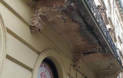 Як у Львові обсипаються балкони. Фото: Варта1.