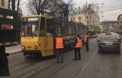 На Городоцькій не курсують трамваї. Фото Варта-1