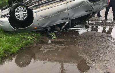 На Жовківщині перекинувся автомобіль