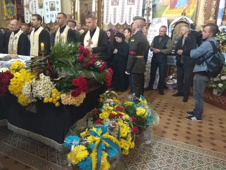Львівщина прощається із Героєм Романом Досяком. Фото пре-служба ЛОДА