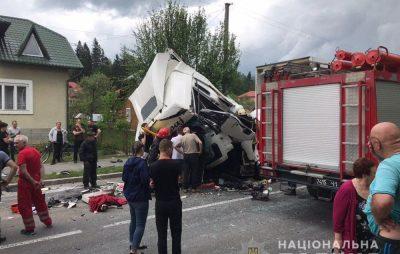 На Сколівщині у жахливій аварії чотирьох автомобілів загинув водій