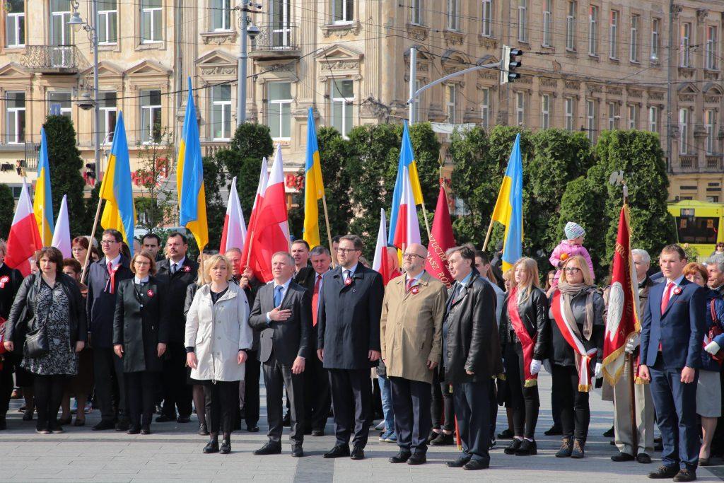 Українці і поляки спільно відзначили День Конституції Польщі. Фото прес-служба ЛОДА