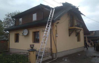 На Самбірщині ліквідували пожежу в житловому будинку. Фот: ГУ ДСНС у Львівській області.