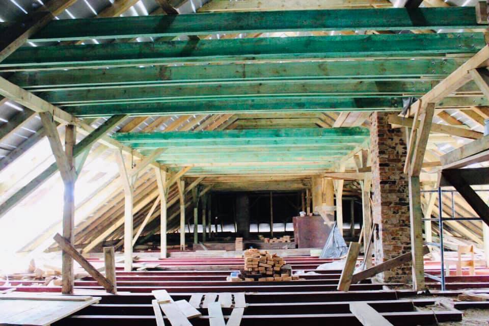 Як у Жовкві проводять реконструкцію Домініканського монастиря Фото Олег Синютка