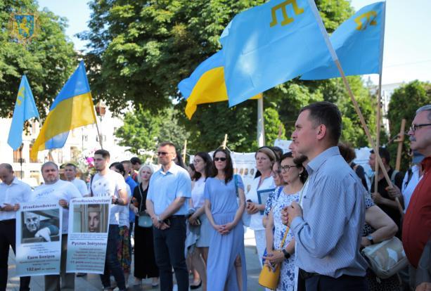 На Львівщині відбулась акція на підтримку політв`язнів