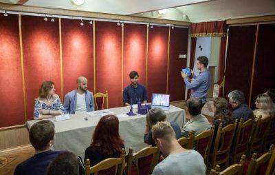 Проект смартфонного додатку доповненої реальності презентували в музеї Грушевського. Фото: Роман Метельський.