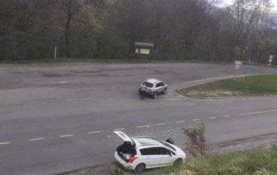 На Самбірщині зіткнулися два автомобілі, які рухалися в одному напрямку