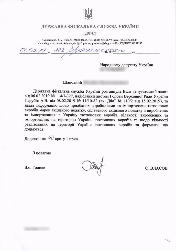 За три роки Львівська тютюнова фабрика не купила жодної акцизної марки для сигарет