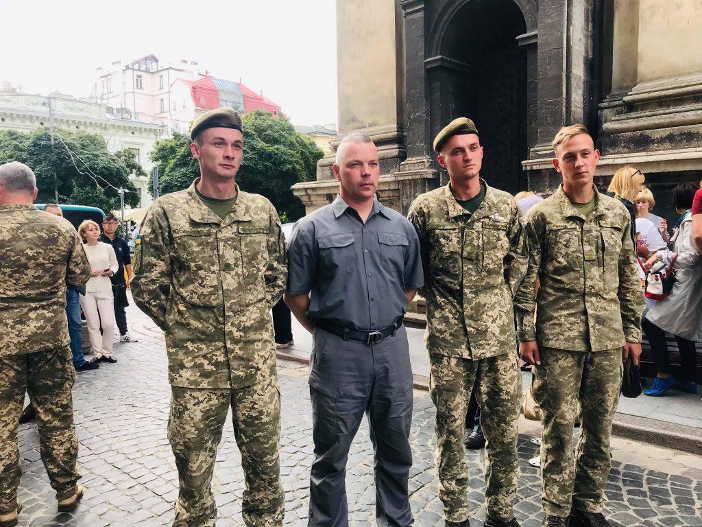 Генерал Михайло Забродський у Львові. Фото - Європейська Солідарність Львів