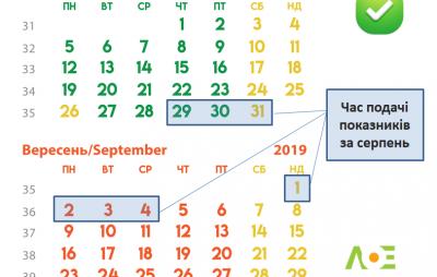 """У """"Львівобленерго"""" змінили дати подачі показників"""