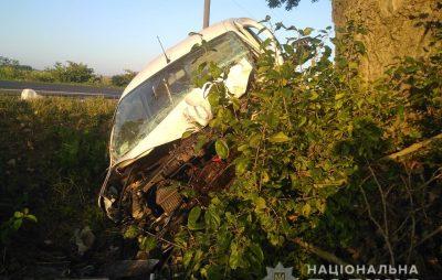 На Яворівщині автомобіль в'їхав у дерево
