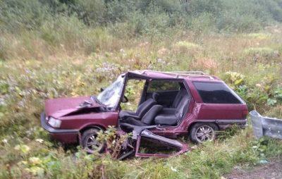 На Львівщині з понівеченої автівки витягнули водія. Фото: ДСНС.