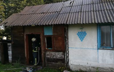 На Яворівщині вогонь охопив житловий будинок. Фото: ДСНС.
