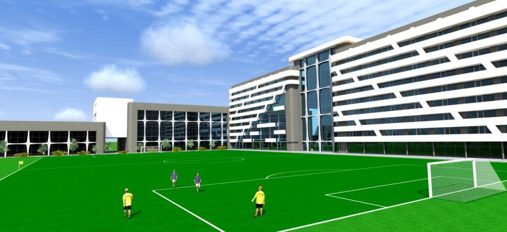 Макет будівництва спортивного комплексу на Кульчицької