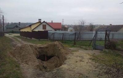 У Яворівському районі провалля на дорозі засипали піском. Фото: Яворів-Інфо
